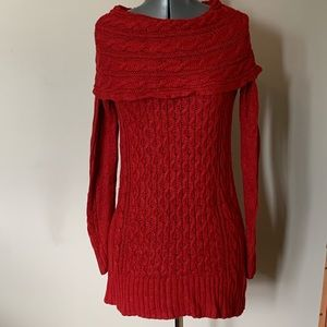 DressBarn Long Sweater with Shawl Neck